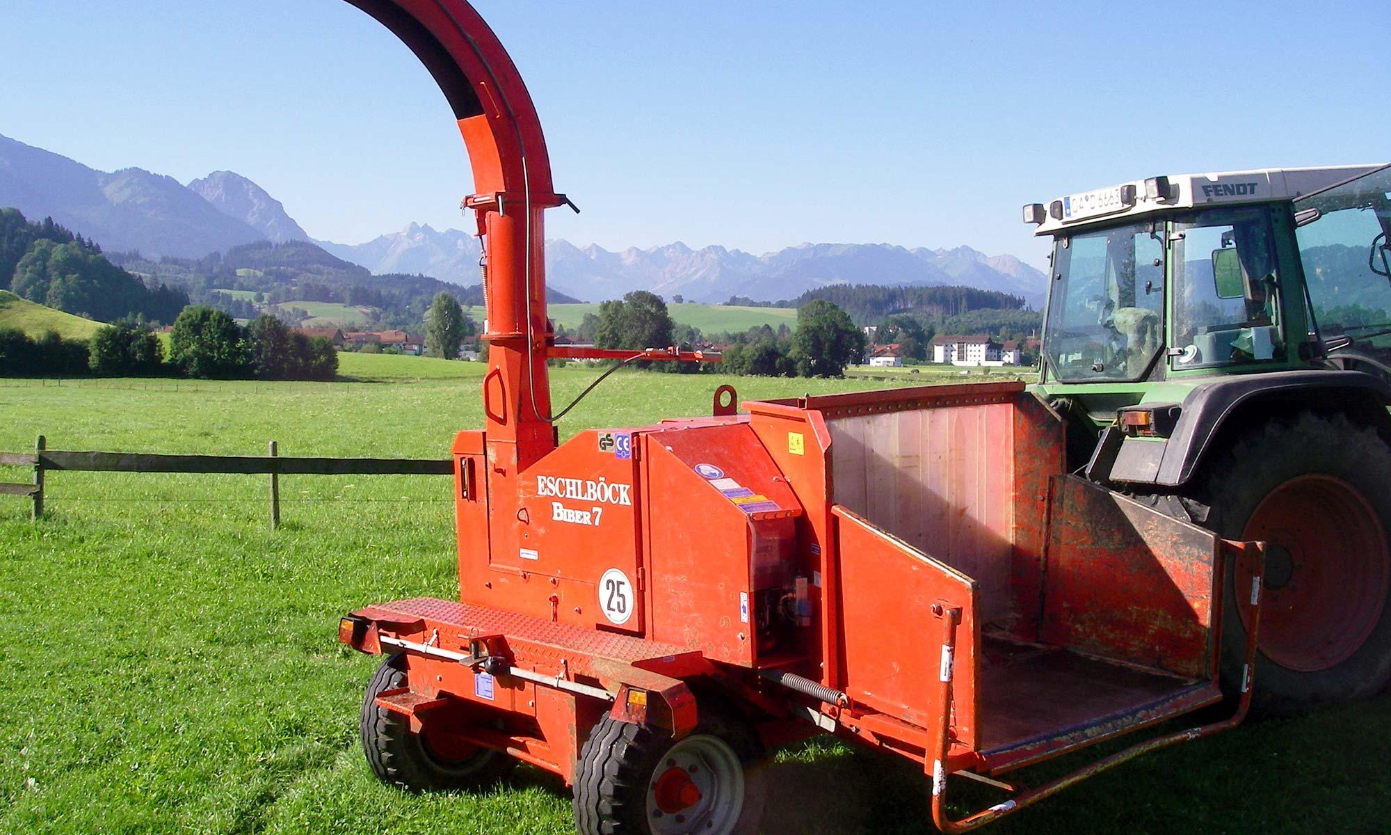 Maschinenverleih von Forstmaschinen