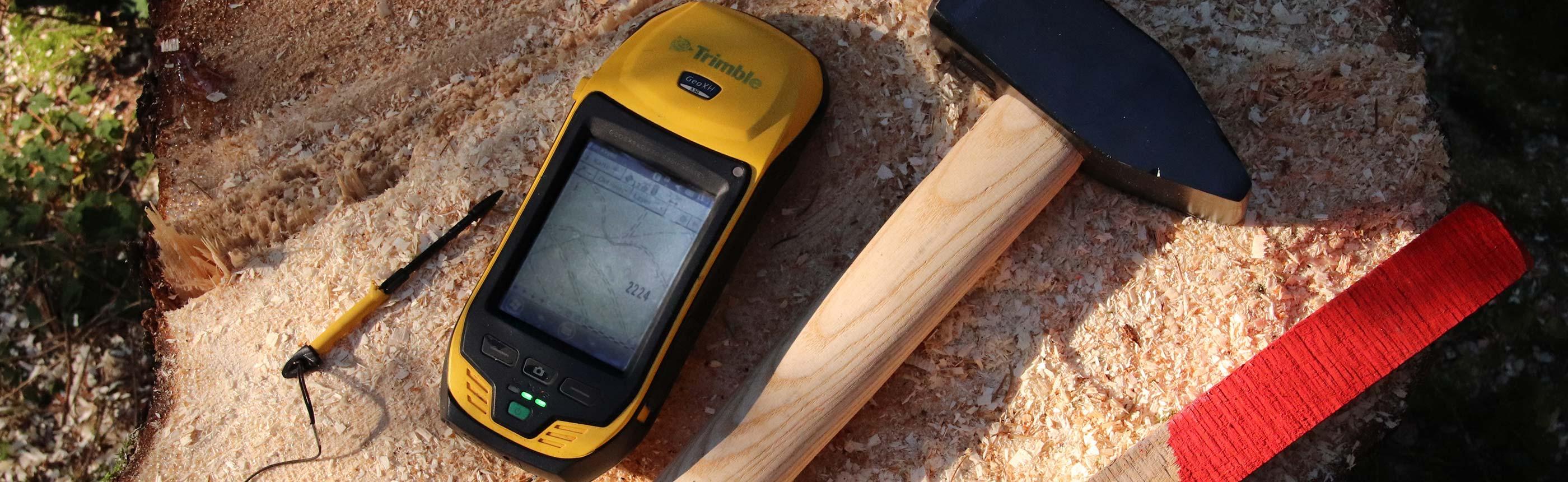 GPS-Grenzsteinsuche